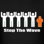 men-s-black-white-orange-stop-the-wave-logo-t-shirt_design