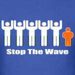 men-s-blue-white-orange-stop-the-wave-logo-t-shirt_design