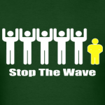 men-s-green-white-yellow-stop-the-wave-logo-t-shirt_design